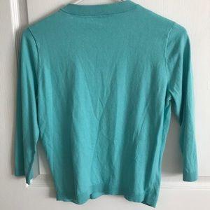 kate spade Sweaters - kate spade Teal Button Down Cardigan